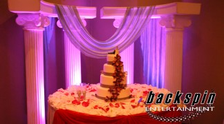 Targeted Accent Uplighting - Wedding Cake