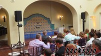 Wedding ceremony at the beautiful Ebell Club in Long Beach, CA.