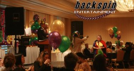 Corporate event with a Mardi Gras theme - Torrance Doubletree, Torrance CA.